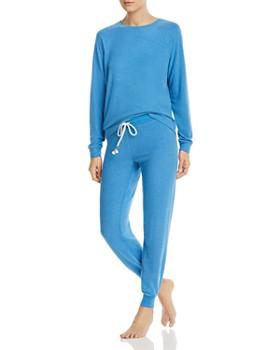 05e0358c2bc6 PJ Salvage - Long-Sleeve Melange Top   Jogger Pants ...