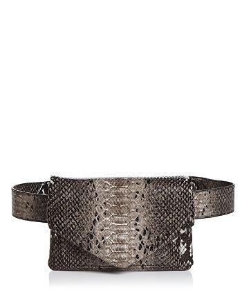 AQUA - Snake Print Belt Bag - 100% Exclusive