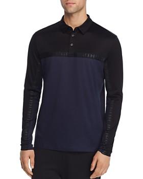 HUGO - Doulon Long-Sleeve Color-Block Regular Fit Polo Shirt