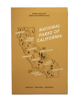 Parks Project - California National Parks Golden State Map Poster
