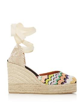 Castañer - x Missoni Women's Carina Ankle-Tie Platform Wedge Espadrille Sandals