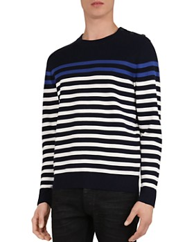 The Kooples - Striped Cotton Knit Sweater