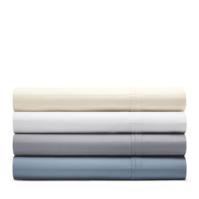 Bloomingdale's Essentials - Organic Dobby Stripe Sheet Set, California King - 100% Exclusive