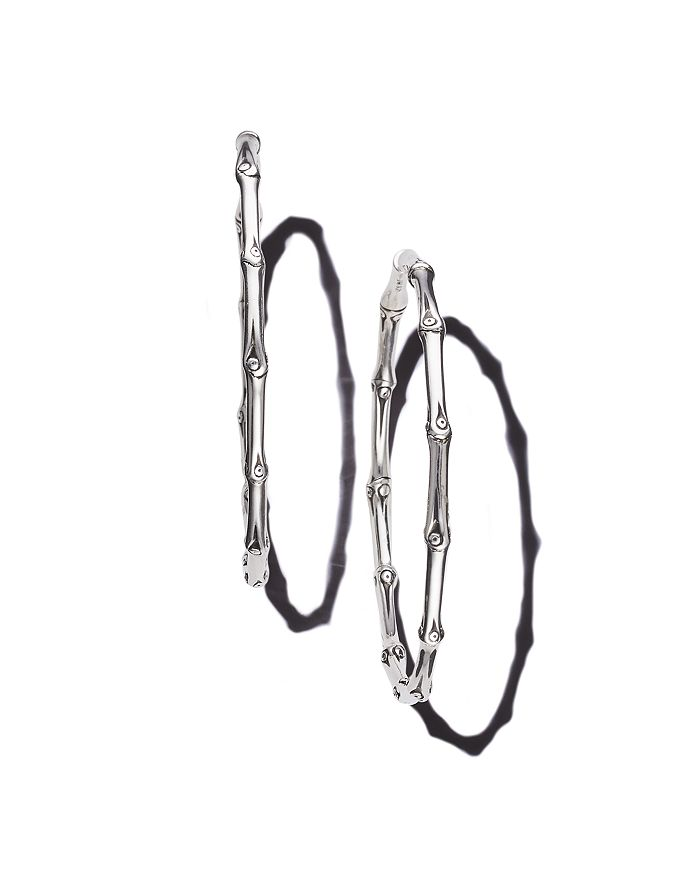 9c1079cbb JOHN HARDY Bamboo Large Continuous Hoop Earrings | Bloomingdale's