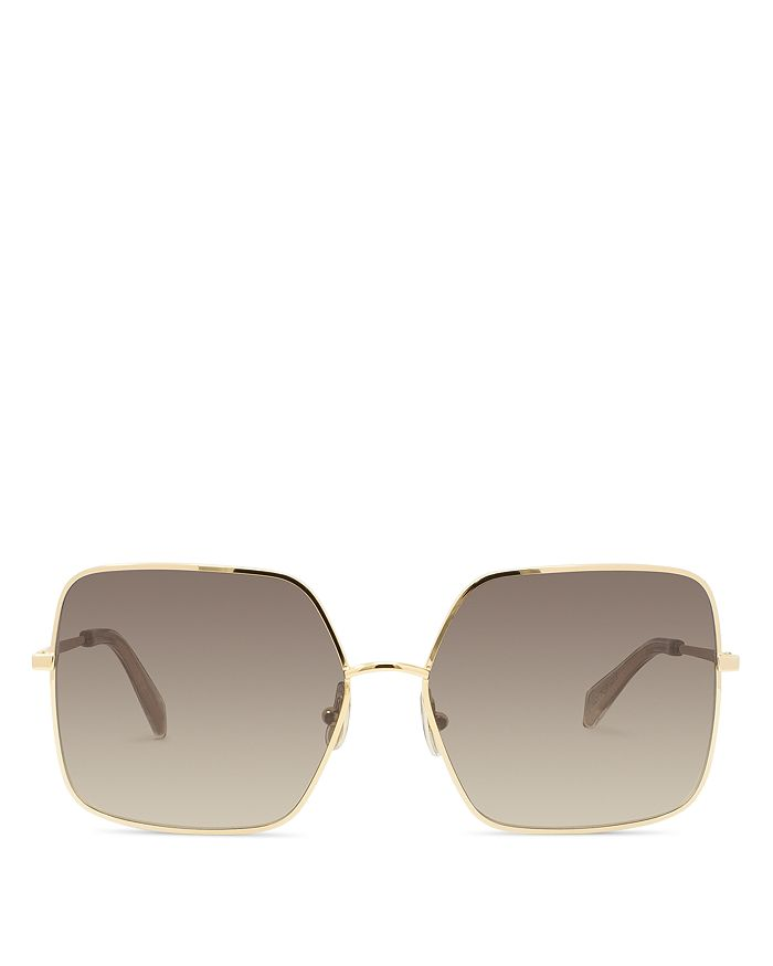 Celine Women's Square Gradient Sunglasses In Endura Gold/gradient Brown
