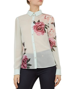 40bf8826b72630 Ted Baker - Zaylaa Magnificent-Print Blouse ...