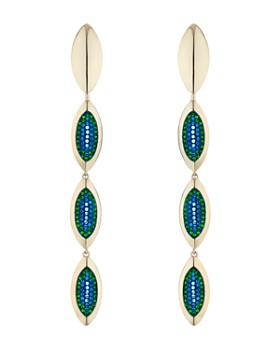 Atelier Swarovski - by Themis Zouganeli Evil Eye Linear Drop Earrings