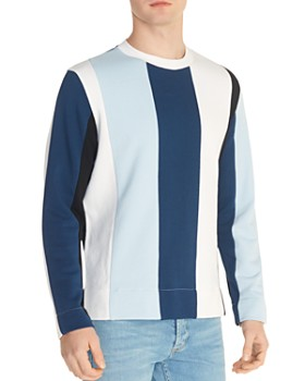 Sandro - Striped Crewneck Sweatshirt