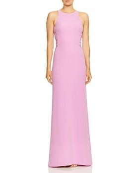 66d851579fc HALSTON HERITAGE - Twist Mesh High-Neck Gown ...