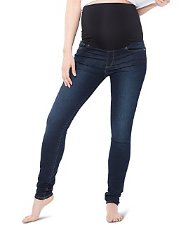 Nom Maternity - Soho Over-the-Belly Skinny Jeans in Dark Blue
