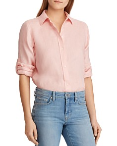 Ralph Lauren - Linen Button-Down Top