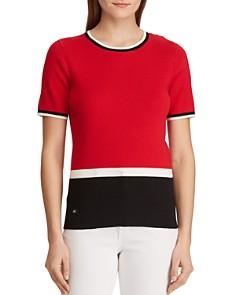 Ralph Lauren - Short-Sleeve Rib-Knit Sweater