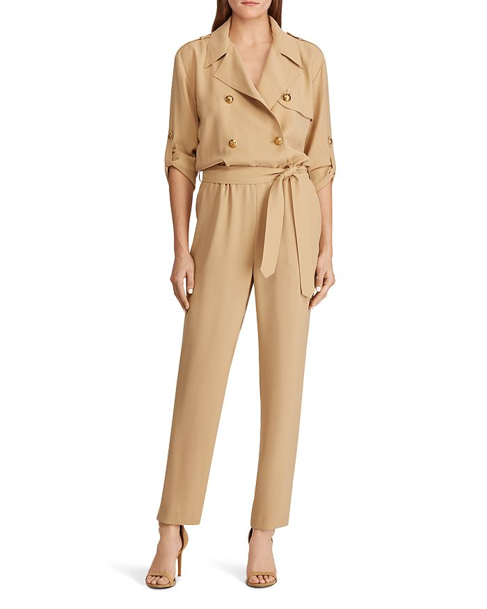 Ralph Lauren - Double-Breasted Belted Jumpsuit - 100% Exclusive