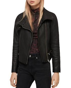 2d2c3f13 ALLSAINTS - Bales Leather Biker Jacket ...