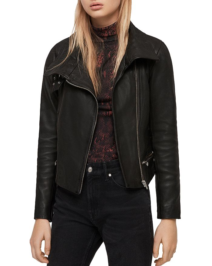 ALLSAINTS - Bales Leather Biker Jacket
