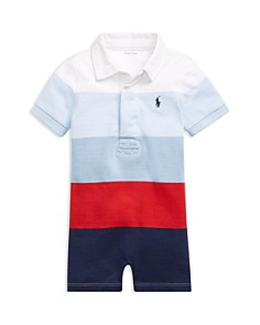 Ralph Lauren - Boys' Striped Rugby Shortall - Baby