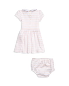 Ralph Lauren - Girls' Striped Interlock Dress Set - Baby