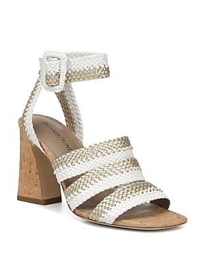 Donald Pliner Sandals WOMEN'S RINATA WOVEN CHUNKY HEEL SANDALS