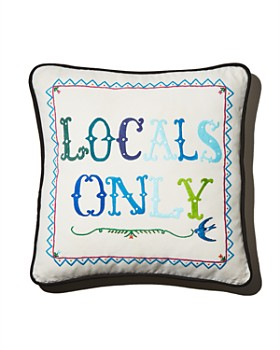 Aloha Zen - Locals Only Embroidered Decorative Pillow