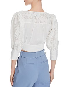 CHRISELLE LIM - Puff-Sleeve Cropped Top - 100% Exclusive