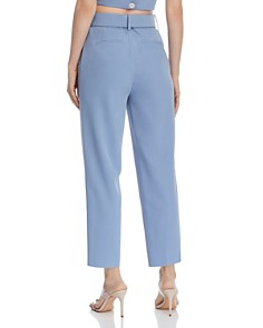 CHRISELLE LIM - Belted Cropped Straight-Leg Pants