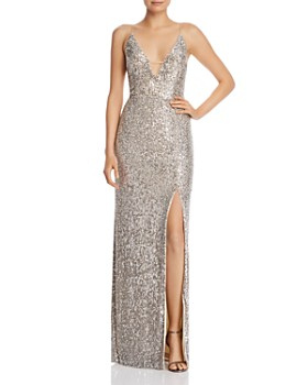 6faee08785 Aidan by Aidan Mattox - Sequined Column Gown ...