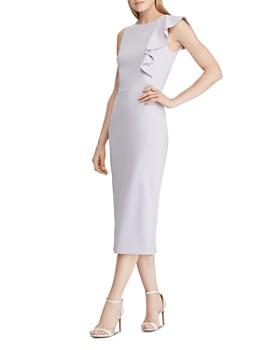 Ralph Lauren - Ruffle-Trimmed Crepe Dress