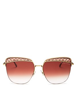 Bottega Veneta - Women's Square Sunglasses, 59mm
