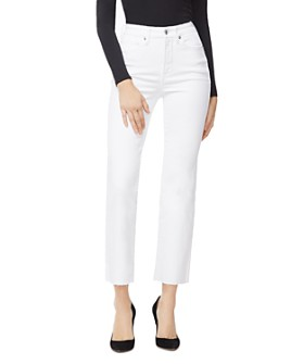 Good American - Good Curve Straight Jeans in White008