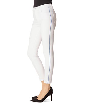 J Brand - Alana High-Rise Ankle Skinny Jeans in White