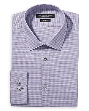John Varvatos Dresses MODERN GINGHAM SLIM FIT DRESS SHIRT