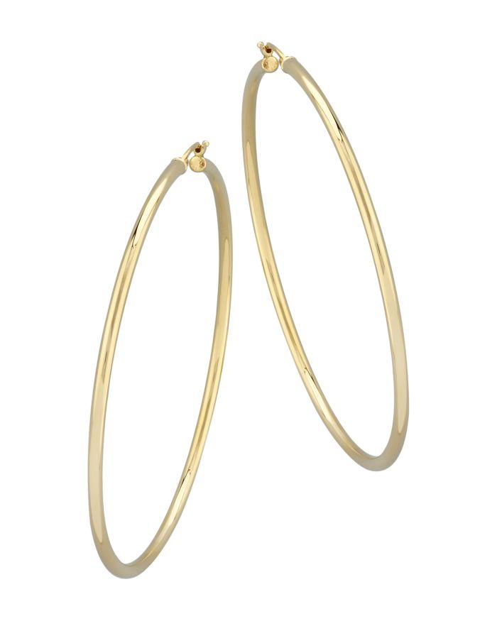 Bloomingdale's Large Hoop Earrings in 14K Yellow Gold - 100% Exclusive  | Bloomingdale's