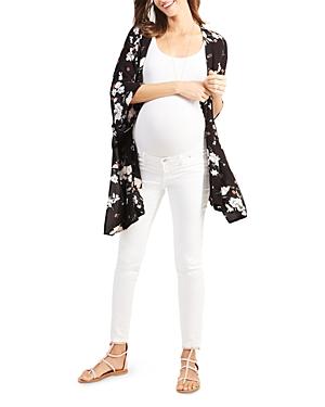Ingrid & Isabel Maternity Floral Print Nursing Kimono