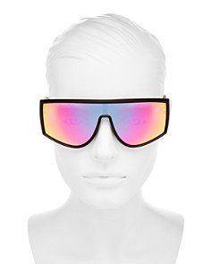 Quay - Women's Cosmic Mirrored Shield Sunglasses, 148mm