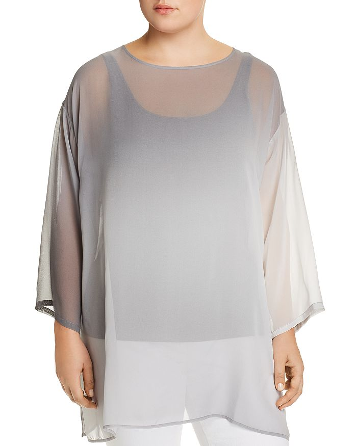 Eileen Fisher Plus - Silk Ombré Tunic