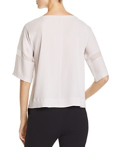 Eileen Fisher - Silk Sheer-Stripe Top - 100% Exclusive