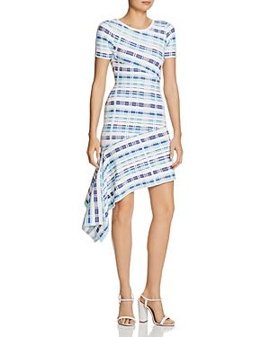 Milly Dresses ASYMMETRIC PLAID DRESS