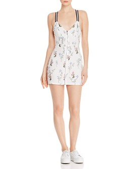For Love & Lemons - Luz Fitted Floral Mini Dress