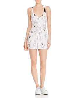 For Love & Lemons - Luz Fitted Floral Mini Dress