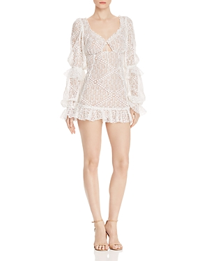 For Love & Lemons Dresses SEQUIA LACE MINI DRESS