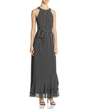 Calvin Klein - Sleeveless Dot-Print Maxi Dress