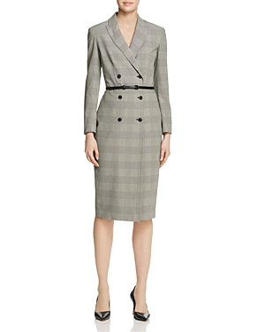 Max Mara Pianosa Double-Breasted Plaid Dress-Women
