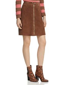 Weekend Max Mara - Egadi Suede Zip Skirt