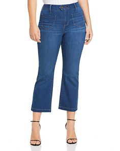 Seven7 Jeans Plus - Cropped Straight-Leg Jeans in Harbor Wash
