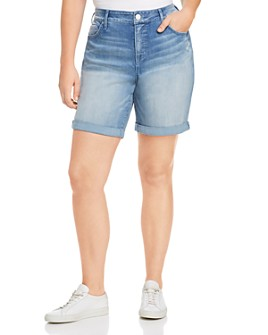 Seven7 Jeans Plus - Weekend Bermuda Denim Shorts in Radiant