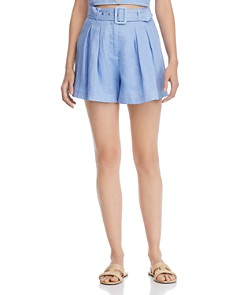 Suboo - Azure Belted High-Waist Shorts
