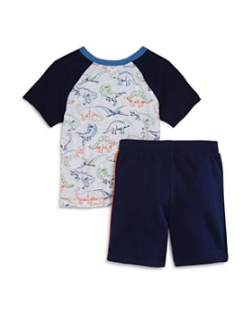 Splendid - Boys' Dinosaur Baseball Tee & French Terry Shorts Set - Little Kid