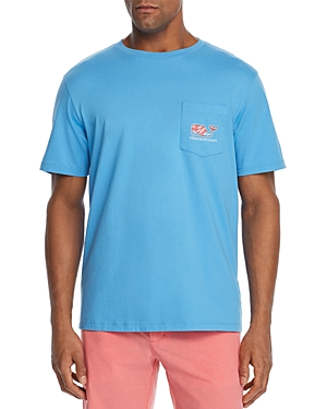 Vineyard Vines Beachwear SWIMMING WITH FISH LOGO-PRINT POCKET TEE