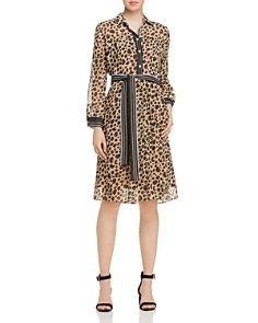 Marella - Danae Belted Leopard-Print Dress