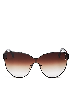 Longchamp Sunglasses WOMEN'S HERITAGE STRIPE SHIELD SUNGLASSES, 62MM